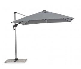 Parasol excéntrico Ines 3x3 LED, color gris oscuro