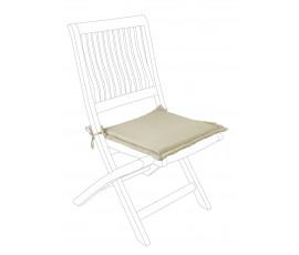 Cojín asiento cuadrado poly230, color Habano