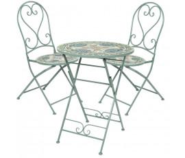 Conjunto Cancún Ø60cm mesa + 2 sillas