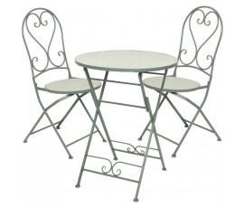 Conjunto Eze, mesa y 2 sillas bistro