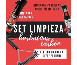SET DE LIMPIEZA BARBACOAS DE CARBÓN