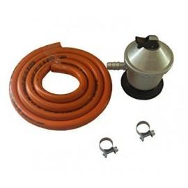 Manguera y regulador del gas + abrazaderas