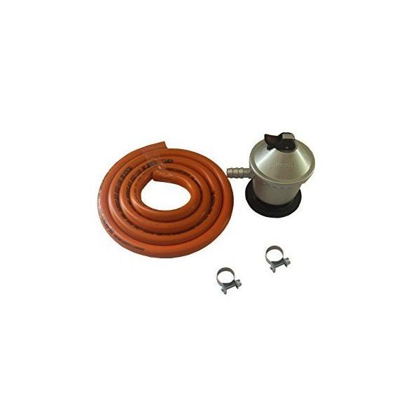 Tubo gas butano kit regulador + abrazadera