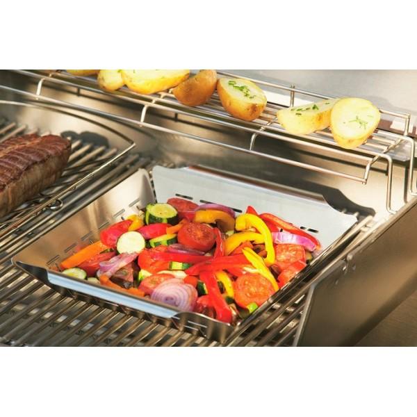 cesta verduras para barbacoa weber