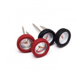 Set de 4 mini termómetros con borde de silicona