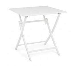 Mesa plegable Elin 70x70, color blanco