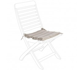 Cojín acolchado para asiento, color gris