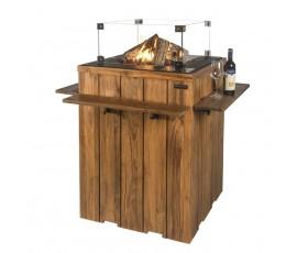 Mesa de pie Happy Cooconing en madera de teca