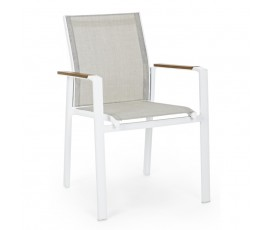 Silla con brazos Elias, color blanco