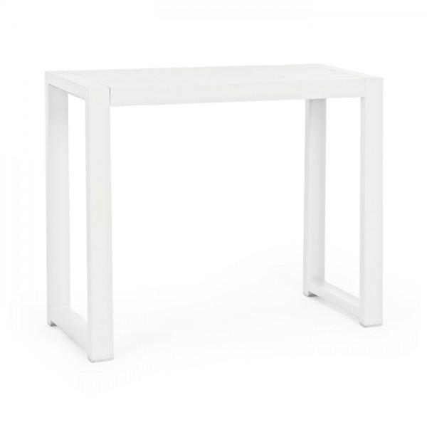 Mesa alta Marinel 75.5x29, color blanco