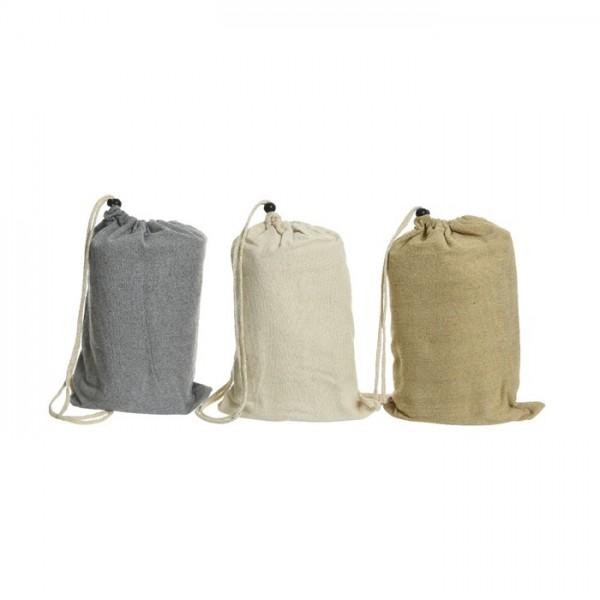 Hamaca de algodón y poliéster, color gris, crema o tierra