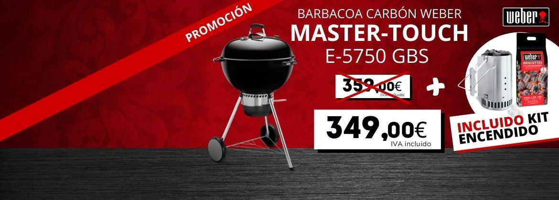 Barbacoa Weber Master-Touch + Kit encendido